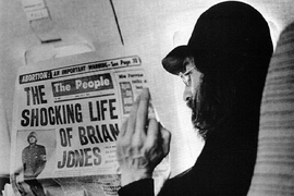 john lennon reads about Brian Jones