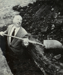 Alfred Hitchcock digs own grave