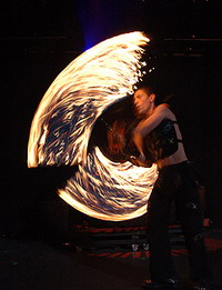 johny dragon fire show